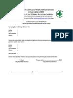 Pernyataan Kejelasan Info Makanan Utk Pasien