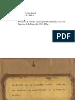 Prontuario de Derecho Practico 1834