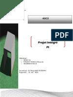 rapport projet de conception  d'un passage inférieur  a portique ouvert