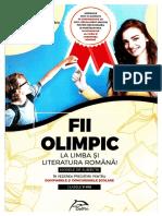 Fii Olimpic La Limba Si Literatura Romana. Modele de Subiecte