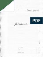 Xenakis Iannis Metastaseis B 1953-54 Score