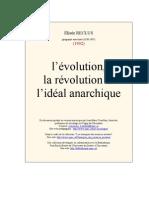 Reclus - L'évolution, la révolution et l'idéal anarchique
