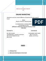 Synopsis for the Final Project of Online Marketing