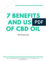 7 Benefits and Uses of CBD Oil