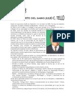 03 de JUNIO - Fallecimiento Del Sabio Julio C. Tello.