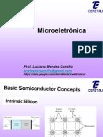 GELE7319 Microeletronica - AULA-02 Fisica Do Semicondutor