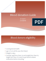 Blood Donation Guide