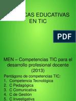Competencias TIC Para Docentes-Politicas MEN