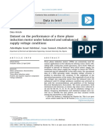 Dataset on the performance of a three phase induction motor under balanced and unbalanced supply voltage conditions