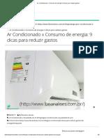 Ar Condicionado x Consumo de Energia
