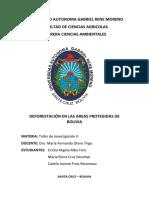 Deforestación en Áreas Protegidas de Bolivia