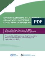0000001001cnt 2017-09-08 Diagnostico Situacional Cancer Colorrectal Argentina
