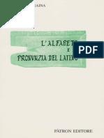 [Alfonso Traina] L'Alfabeto e La Pronunzia Del Latino