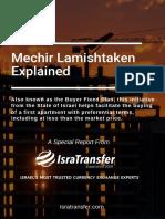 Israel's Mechir Lamishtaken Explained