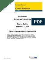 ECON6003 Course Syllabus