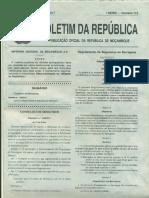 Regulamento Seguranca Barragem Decreto 33 2017 - Mozambique