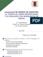 La teoría de Chern-Simons-Wong y su relaciòn con invariantes de nudo