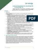 Condiciones Generales de Contratación de Cleverbridge AG y Cleverbridge, Inc