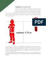 Altura Extintores Norma Internacional