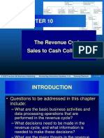 Chapter 10 the Revenue Cycle Sales to Cash Collections