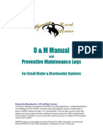 O&M Manual and Preventive Maintenance Logs for Small Water & Wastewater Systems