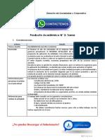 Derecho de Sociedades y Corporativo Producto Académico N°2