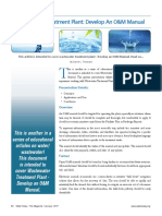 Wastewater Treatment Plant Develop an O&M Manual