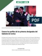 Conoce Los Perfiles de Los Primeros Designados Del Gabinete de Cortizo - Metro Libre
