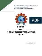 Bases de La i Gran Bicicleteada Episa 2019