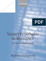 Vowel Prosthesis in Romance