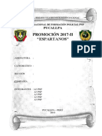 Disposiciones Generales - Espartano Pnp