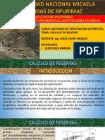 Calculo de Reservas Ppt - Oficial
