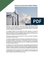 El Perú Se Prepara Para Una Nueva Ley de Cambio Climático