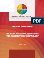 Informe Defensorial Verificacion de Documentos