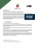 2da Encuesta Nacional Sobre Mujer y Trabajo en Chile Resumen Ejecutivo