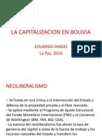 Derecho Economico - Diapositiva La Capitalizacion en Bolivia - Eduardo Pardo