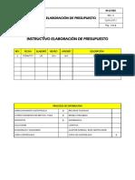 IA-LC-002 Elaboración de Presupuesto