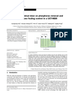 Effect of Chemical Dose on Phosphorus Removal and Membrane Fouling Control in a UCT-MBR