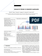 Electrochemical Removal of Nitrate in Industrial Wastewater