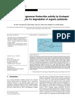 Enhanced Heterogeneous Fenton-like Activity by Cu-doped BiFeO3 Perovskite for Degradation of Organic Pollutants