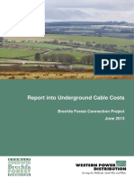 Underground Cable Costs Report