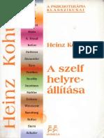 Kohut Heinz a Szelf Helyreallitasa PDF
