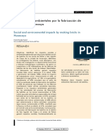 Artículo Impactos Socioambientales Por La Fabricación de Ladrillos en Huancayo
