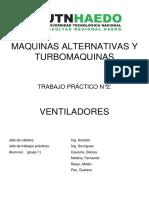 UTN FRH TP N2 - Ventiladores - Turbomáquinas - Grupo 1