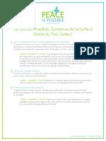 0 – La Paix est Possible- Contenus de la boîte à Outils du Pacificateur_FR