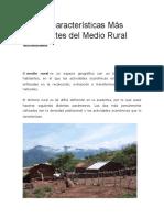 Medio Rural y Urbano