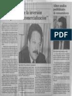 Edgard Romero Nava - Debe Permitirse La Inversion Extranjera en La Comercializacion - Economia Hoy 17.01.1990