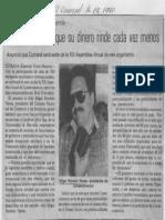 Edgard Romero Nava - El Pueblo Siente Que Su Dinero Rince Cada Vez Menos - El Universal 16.02.1990