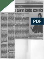 Edgard Romero Nava - Los Empresarios Quieren Libertad Economica - El Nuevo Pais 24.01.1990
