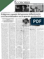 Edgard Romero Nava - Peligroso Repunte Del Proceso Inflacionario Crea Incertidumbre en El Aparato Productivo - El Impulso 04.06.1990